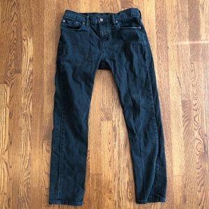 Levi's 511 size 32 x 30 men's black slim fit jeans